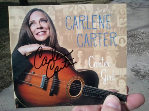 Carlene Carter autographed CD