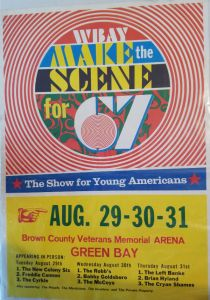 Poster for Make the Scene for '67, a rock concert at the Brown County Veterans Memorial Arena on Aug. 29-31, 1967