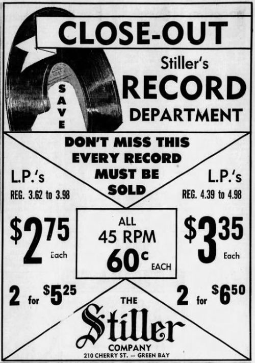 Stiller Co. record ad, Sept. 8, 1970