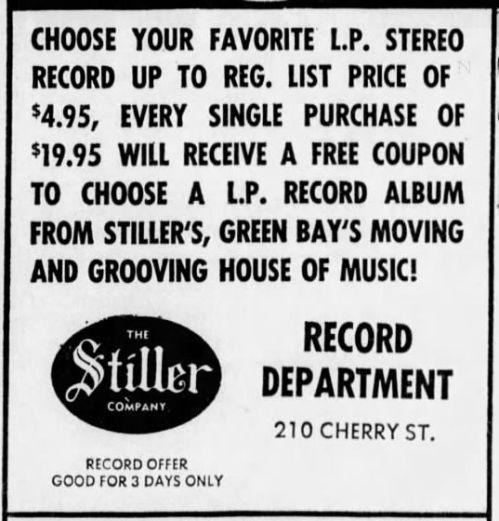 Stiller Co. record ad, May 21, 1970
