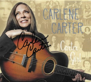 Carlene Carter autograph on Carter Girl CD