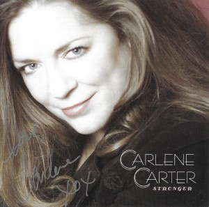 Carlene Carter autograph on Stronger CD