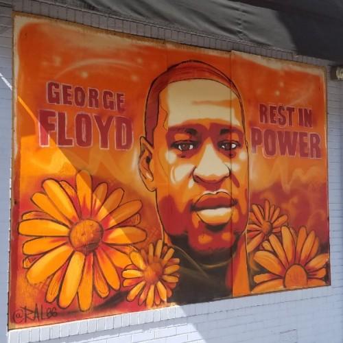 George Floyd mural, Minneapolis, June 2020