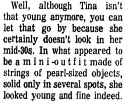 Part of review of Ike and Tina Turner show, Madison, Wisconsin, June 26, 1971